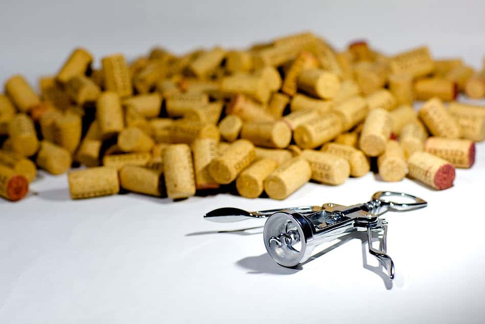 wine opener with corks
